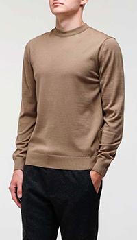 Коричневый мужской свитер Bogner с полоской, фото