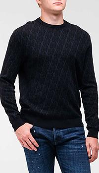 Мужской джемпер Emporio Armani темно-синего цвета, фото