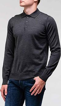 Шерстяной джемпер Emporio Armani серого цвета, фото