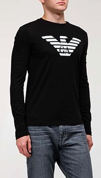 Черный джемпер Emporio Armani с белым орлом, фото