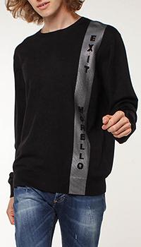 Черный джемпер Frankie Morello с логотипом, фото