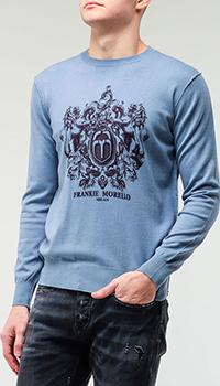 Джемпер Frankie Morello с брендовым рисунком, фото