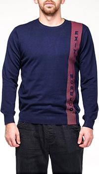 Синий джемпер Frankie Morello с красной полосой, фото