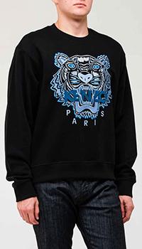Черный свитшот Kenzo с изображением тигра, фото