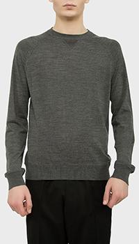 Серый пуловер Dsquared2 из шерсти, фото
