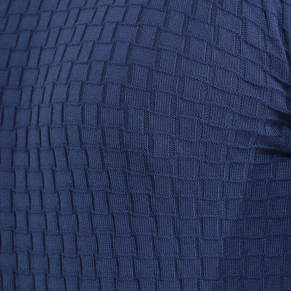 Джемпер Dalmine с геометрической вязкой синего цвета