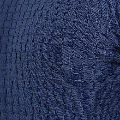 Джемпер Dalmine с геометрической вязкой синего цвета, фото