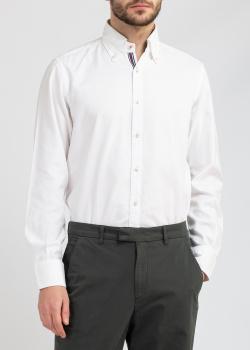 Белая рубашка Belmonte Oro с цветными вставками, фото