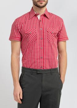 Красная рубашка Belmonte Trend в клетку, фото