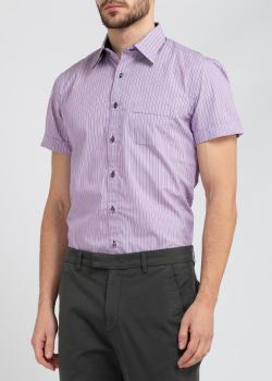 Сиреневая рубашка Belmonte Trend в полоску, фото