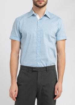 Голубая рубашка Belmonte Trend в клетку, фото