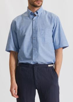 Голубая рубашка Paul&Shark с коротким рукавом, фото