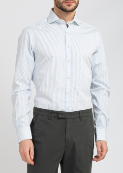 Белая рубашка Belmonte Trend в голубую полоску, фото
