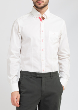 Белая рубашка Belmonte Trend с розовыми вставками, фото