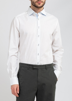 Белая рубашка Belmonte Trend с голубыми вставками, фото