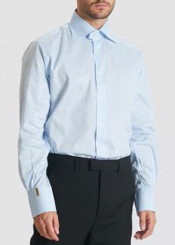 Голубая рубашка Billionaire в тонкую полоску, фото