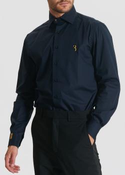 Синяя рубашка Billionaire с фирменной вышивкой, фото