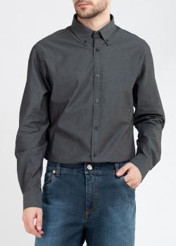 Серая рубашка Roberto Cavalli Sport с надписью на спине, фото