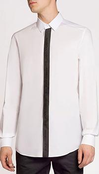 Хлопковая рубашка Dolce&Gabbana белого цвета, фото