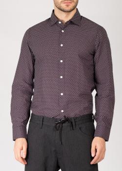 Рубашка с узором Emporio Armani со съемным воротником, фото