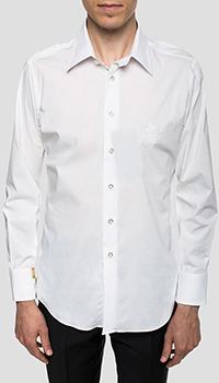 Белая рубашка Billionaire с вышитым фирменным гербом, фото