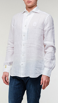 Рубашка Billionaire из белого льна, фото
