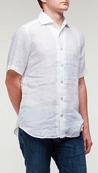 Белая рубашка Billionaire с коротким рукавом, фото
