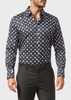Черная рубашка Billionaire с принтом, фото