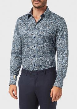 Синяя рубашка Billionaire с орнаментом, фото