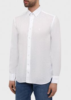 Льняная рубашка Bogner белого цвета, фото