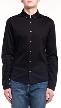 Хлопковая рубашка Bogner Penn черного цвета, фото