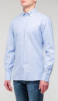 Классическая рубашка Bogner голубого цвета, фото