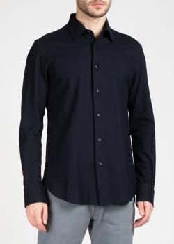 Мужская рубашка Brioni темно-синего цвета, фото