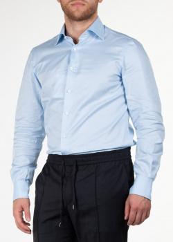 Голубая рубашка Cesare Attolini с длинным рукавом, фото