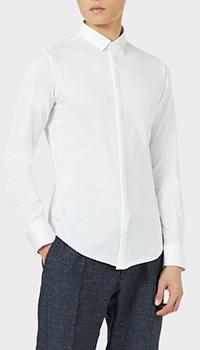 Белая рубашка Emporio Armani с длинным рукавом, фото