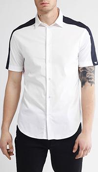 Белая рубашка Emporio Armani с черными вставками, фото
