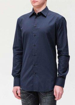 Рубашка Emporio Armani синего цвета, фото