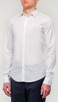 Классическая рубашка Emporio Armani белого цвета, фото