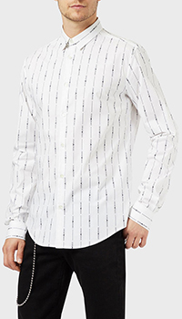 Белая рубашка Emporio Armani с принтом, фото