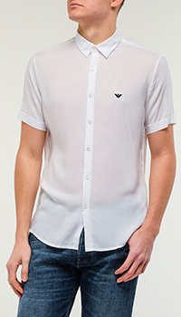 Рубашка Emporio Armani белого цвета, фото