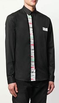 Черная рубашка Frankie Morello с лого, фото
