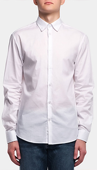 Классическая рубашка Frankie Morello белого цвета, фото