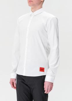 Белая рубашка Hugo Boss Hugo с логотипом, фото
