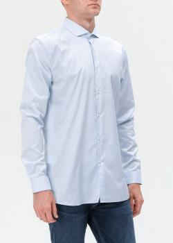 Голубая рубашка Hugo Boss Hugo приталенного кроя, фото