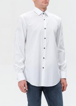 Белая рубашка Hugo Boss с контрастными пуговицами, фото