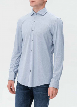 Мужская рубашка Hugo Boss голубого цвета, фото