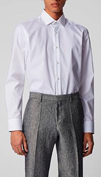 Мужская рубашка Hugo Boss белого цвета, фото