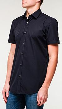 Рубашка Hugo Boss с коротким рукавом черного цвета, фото