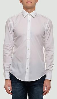 Белая рубашка Hugo Boss с длинным рукавом, фото