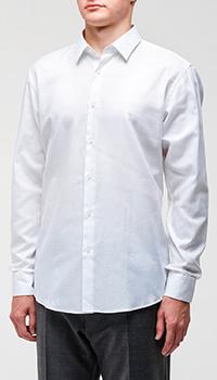 Белая рубашка Hugo Boss прямого кроя, фото